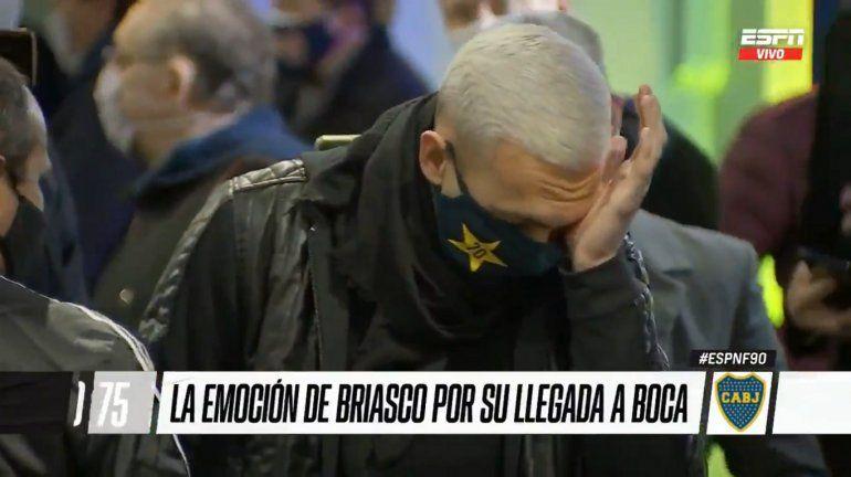 La emoción hasta las lágrimas de Briasco al cumplir el sueño de jugar en Boca