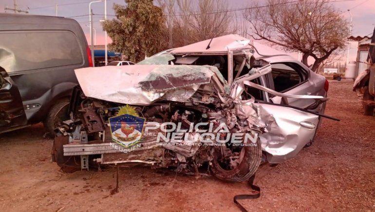Dos muertos en un choque frontal en la Ruta 22 cerca de Arroyito