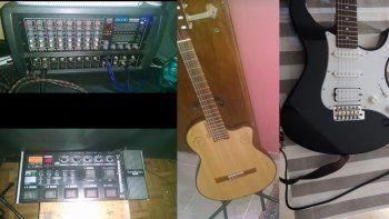 Les barretearon el quincho y robaron $300 mil en instrumentos