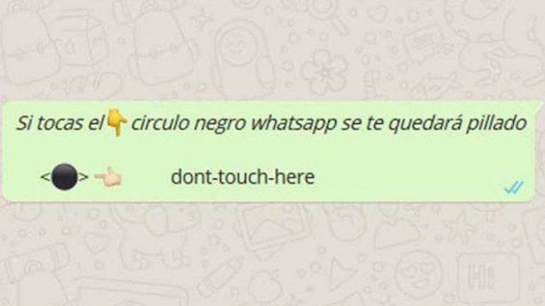 Broma del círculo negro de Whatsapp