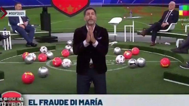 Video: Toti Pasman pidió de rodillas que no juegue Di María y ahora lo matan