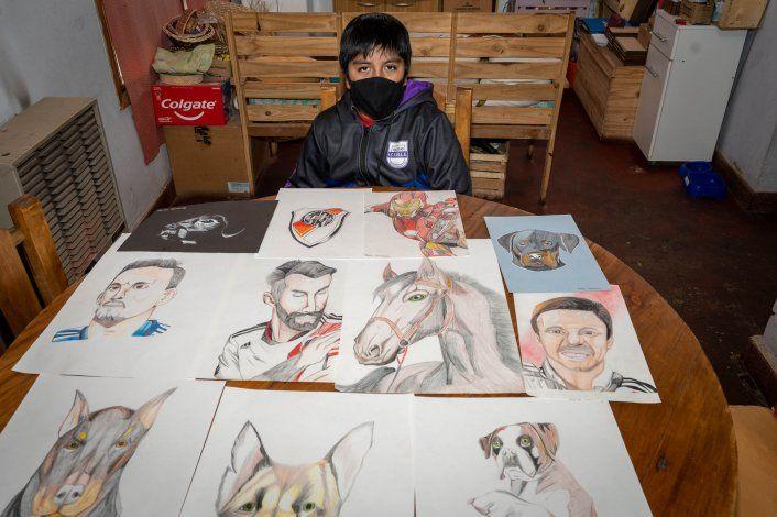 Tiene 12 años y con sus dibujos organiza campañas solidarias en San Martín de los Andes