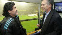 Maradona y Macri en otros tiempos.