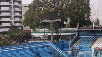 El tablero del estadio de Paysandú que terminó cediendo.