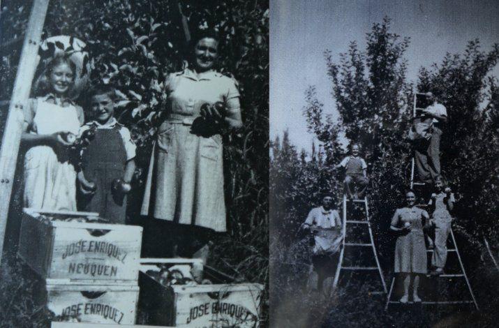 La chacra de los Srebernic en los años 50'.