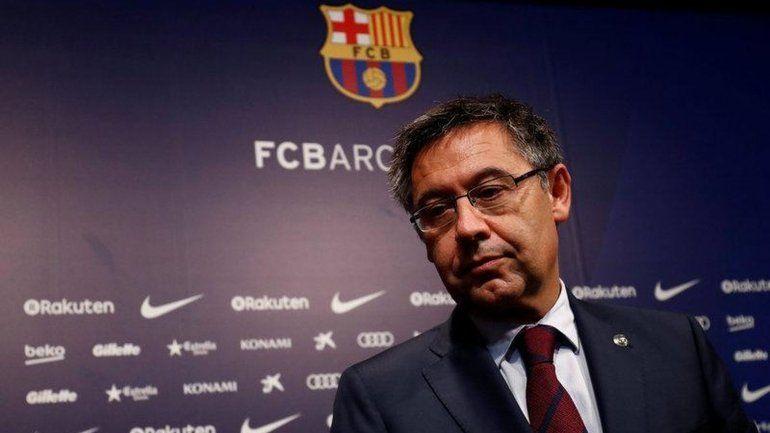Festeja Messi: Bartomeu renunció a la presidencia de Barcelona