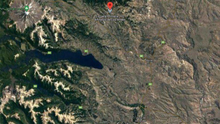 El paraje Chiquilihuín está a 52 kilómetros de la localidad de Junín de los Andes