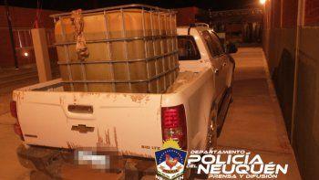 Los delincuentes habían cargado más de 900 litros de combustible en un tambor.