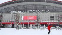 por la nevada historica, el atletico no pudo jugar