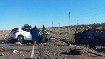 tres personas murieron en un choque frontal en ruta 237