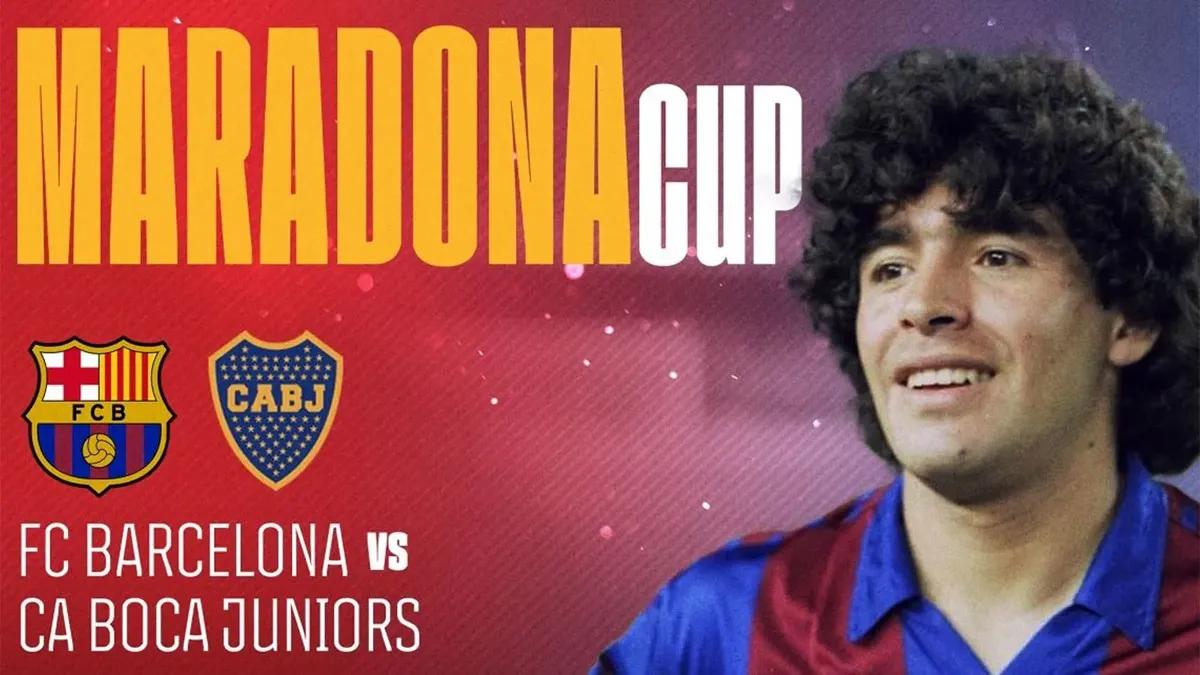 confirman boca-barcelona, por la maradona cup: dia y como verlo