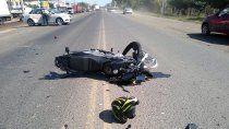 ruta 22: conocido motociclista neuquino murio en un accidente