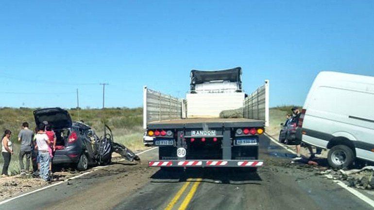 Un joven murió en un terrible choque en Ruta 22