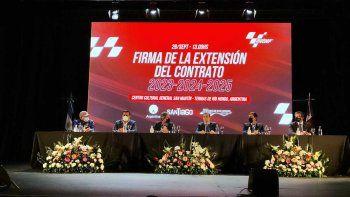 Argentina extendió su contrato con el MotoGP hasta 2025