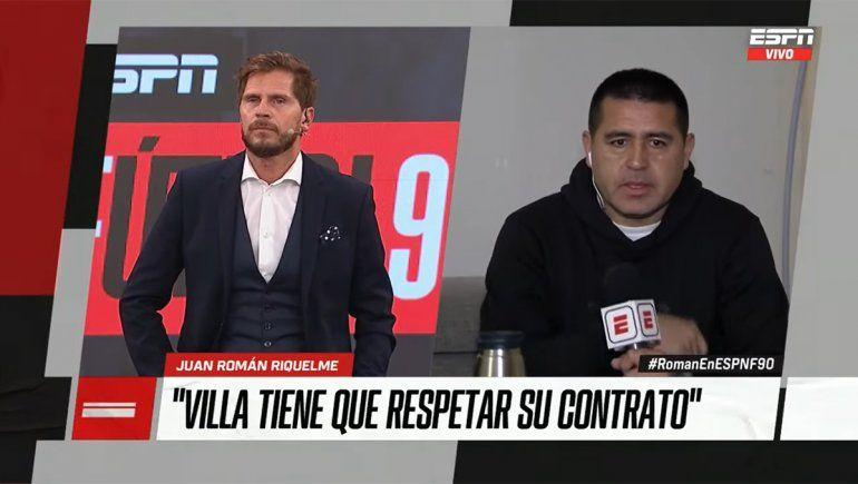 Las bombas de Riquelme: Villa le faltó el respeto al club y a sus compañeros