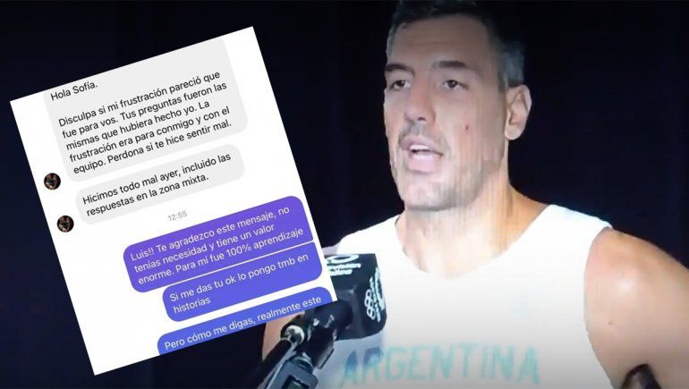 Un caballero: Scola le respondió mal a una periodista y luego le pidió disculpas