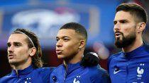 Griezmann, Mbappé y Giroud.