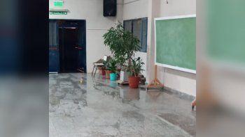 el temporal afecto en el dictado de clases en la region