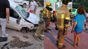 Brutal accidente en el ingreso a la Isla Jordán