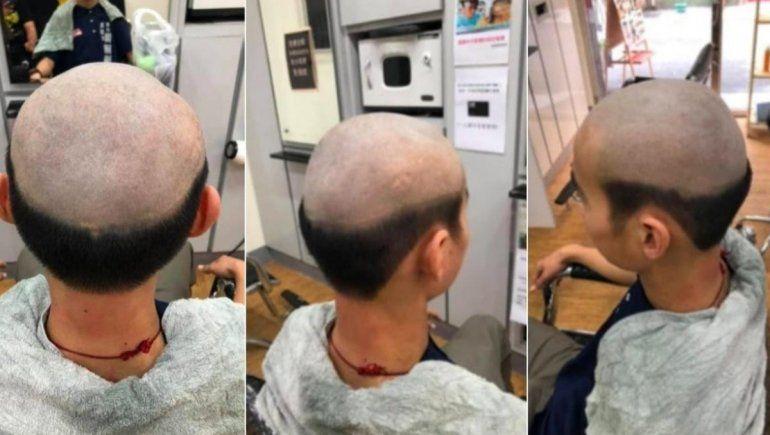 Viral: le cortó mal el cabello a su hijo para evitar que salga de casa.