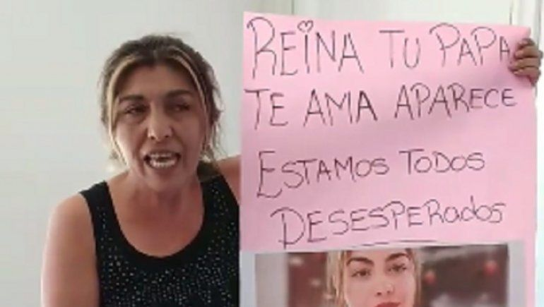 La madre de Reina asegura que su hija está secuestrada