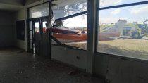 el video que muestra el accidente en el aeropuerto neuquino