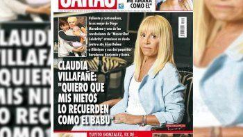 Tras la muerte de Diego, Claudia se convirtió en la tapa de una revista