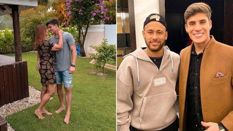 La mamá de Neymar y su novio de 23 años quedaron en medio de un escándalo