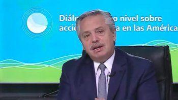 Alberto habló del FMI en la apertura de la Cumbre del Cambio Climático
