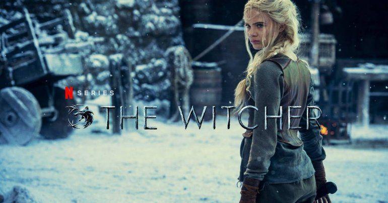 Ciri y la imagen de la filmación de la segunda temporada