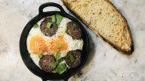 receta: morcilla, huevo y verdeo