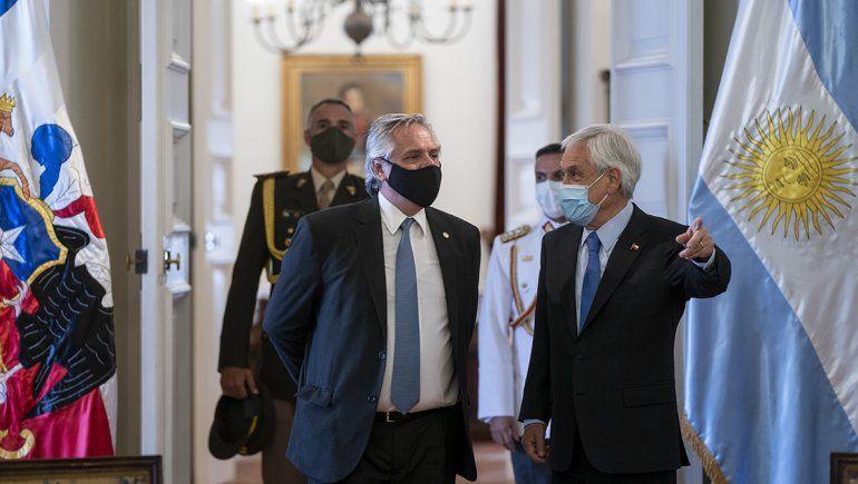 Sebastián Piñera recibió a Alberto Fernández