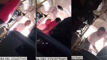 video: le reclamo al chofer de un colectivo que use barbijo y terminaron a las pinas