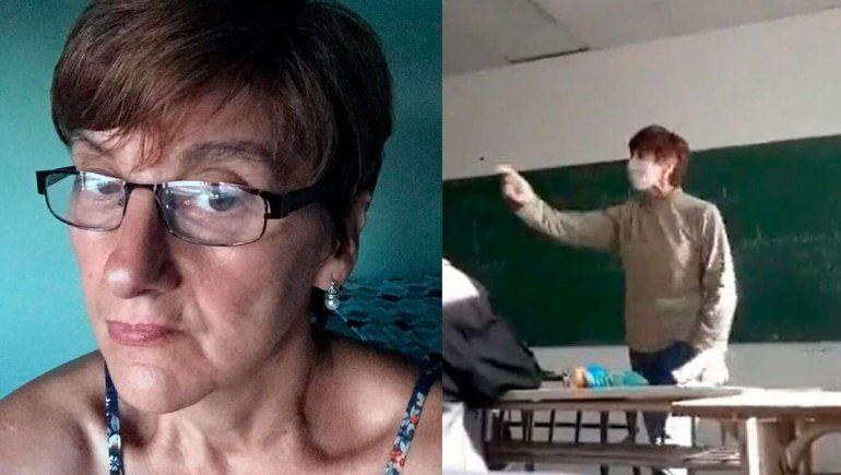 ¿Qué dijo la docente de su polémica discusión con alumnos?
