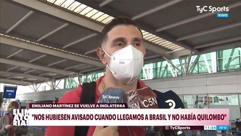 Dibu Martínez: Es algo que nunca se ha visto en el fútbol