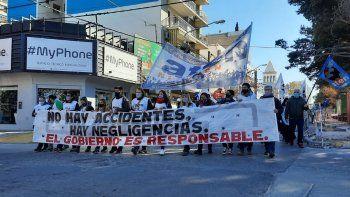 Aguada San Roque: con masiva marcha, ATEN recordó a las víctimas