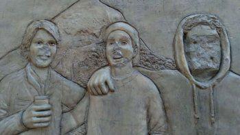 junin de los andes: polemica por la destruccion y retiro de esculturas