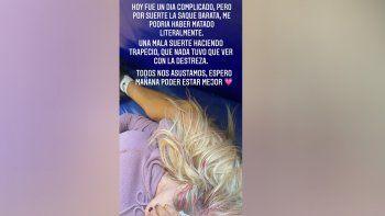 La terrible caída de Luciana Salazar en los ensayos de La Academia