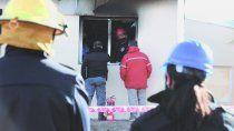 La escuela albergue 144 de Aguada San Roque fue escenario de un peritaje a cargo de los bomberos.
