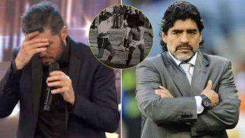 Tinelli, Maradona y la foto de la polémica que hizo estallar las redes.