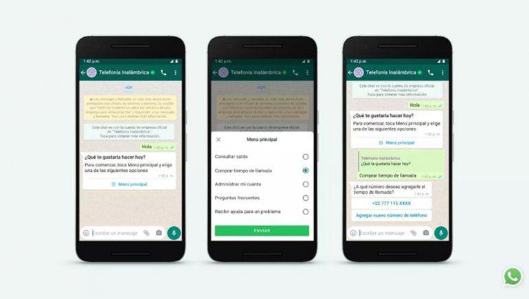 Nuevas opciones de WhatsApp para hablar con una empresa o negocio