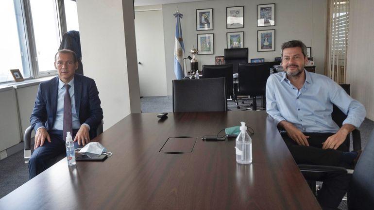 El gobernador Omar Gutiérrez se reunió con el ministro de Turismo, Matías Lammens, este miércoles (13/10/2021).