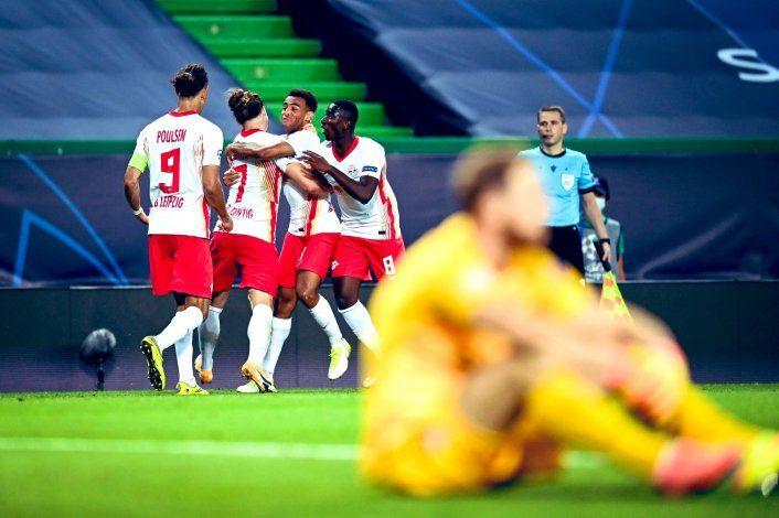 Leipzig sacó de la Champions League al Atlético del Cholo en el final
