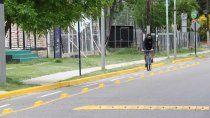 la muni habilito nueva bicicalle en un tramo sobre avenida olascoaga