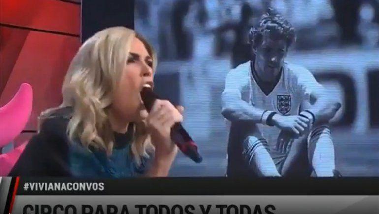 Viviana Canosa y su parodia del gol de Maradona: Desocupación gambetea a trabajo y juega corto con narcotráfico