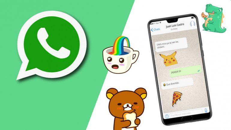WhatsApp: ya podés buscar más fácil los stickers de la app.