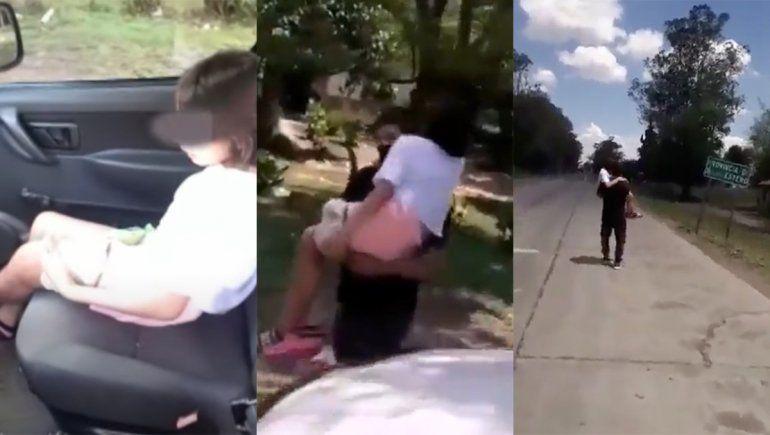 Cargó a su hija enferma 5 kilómetros porque no lo dejaban pasar en auto