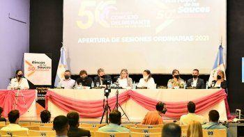 apertura de sesiones: rincon apuesta al progreso