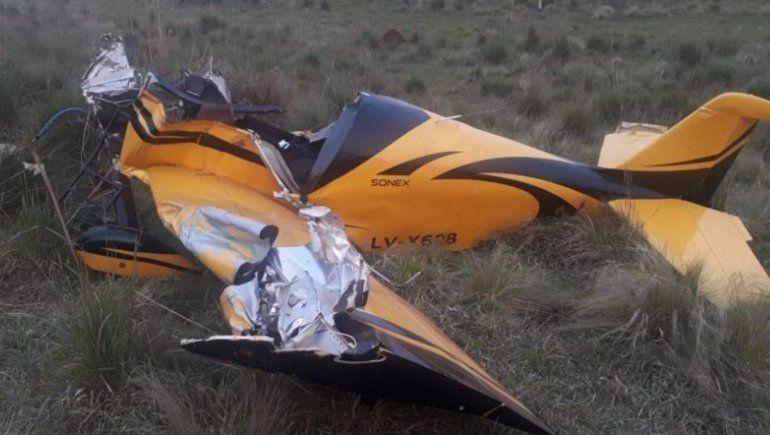 Trágico accidente aéreo: un muerto y un joven herido