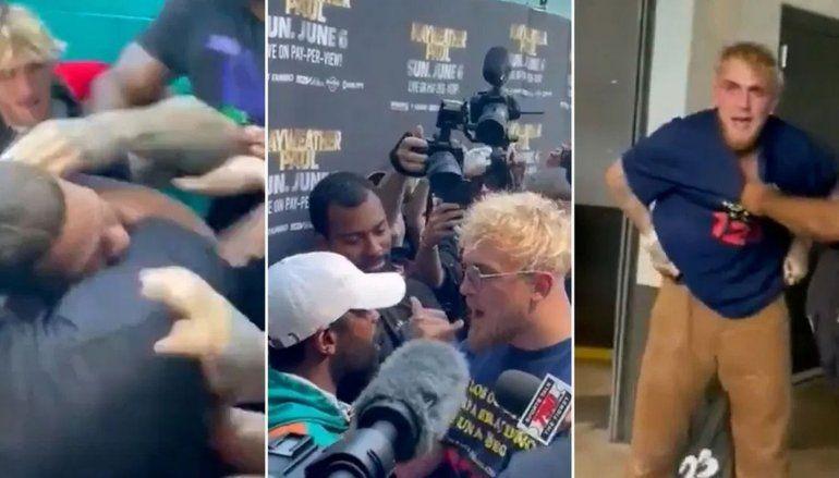 Un youtuber le sacó la gorra a Mayweather y el boxeador reaccionó a las piñas